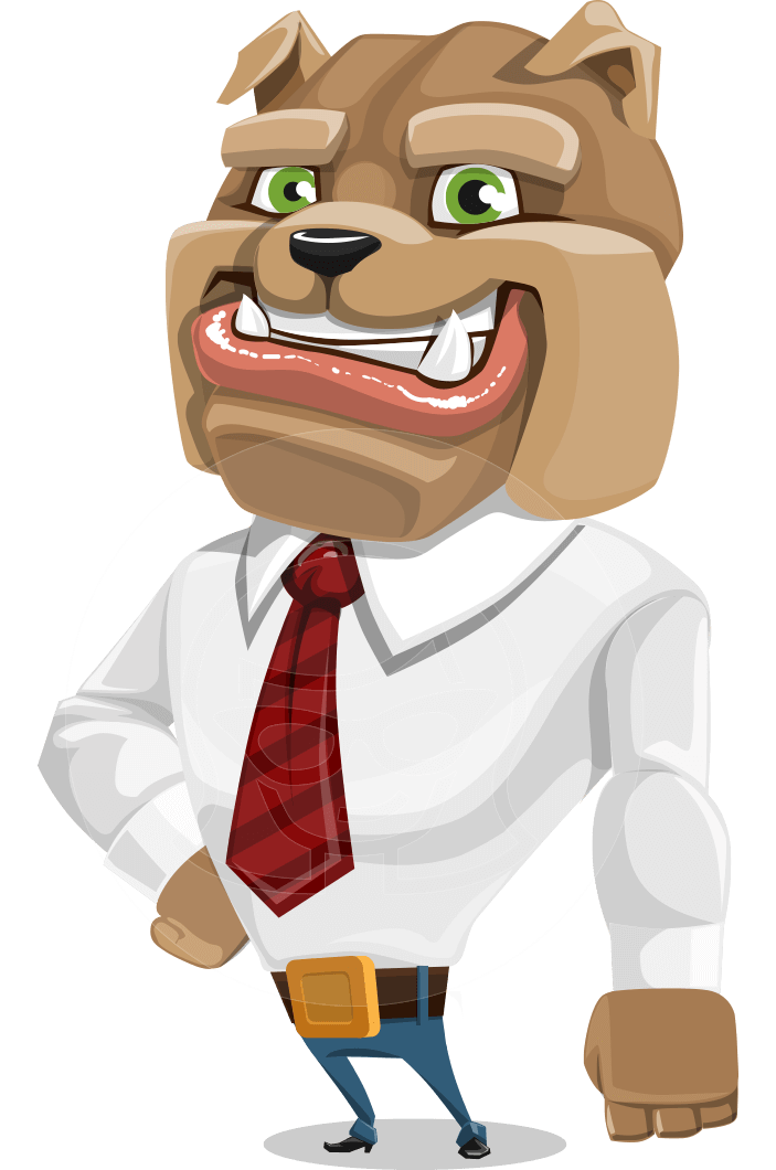 Bulldog Businessman Cartoon Vector Character AKA Bruce Bulldogge