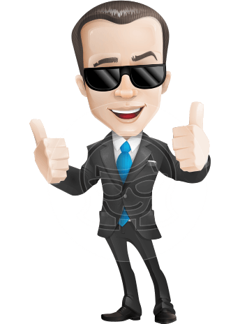 businessman vector cartoon character design modern look