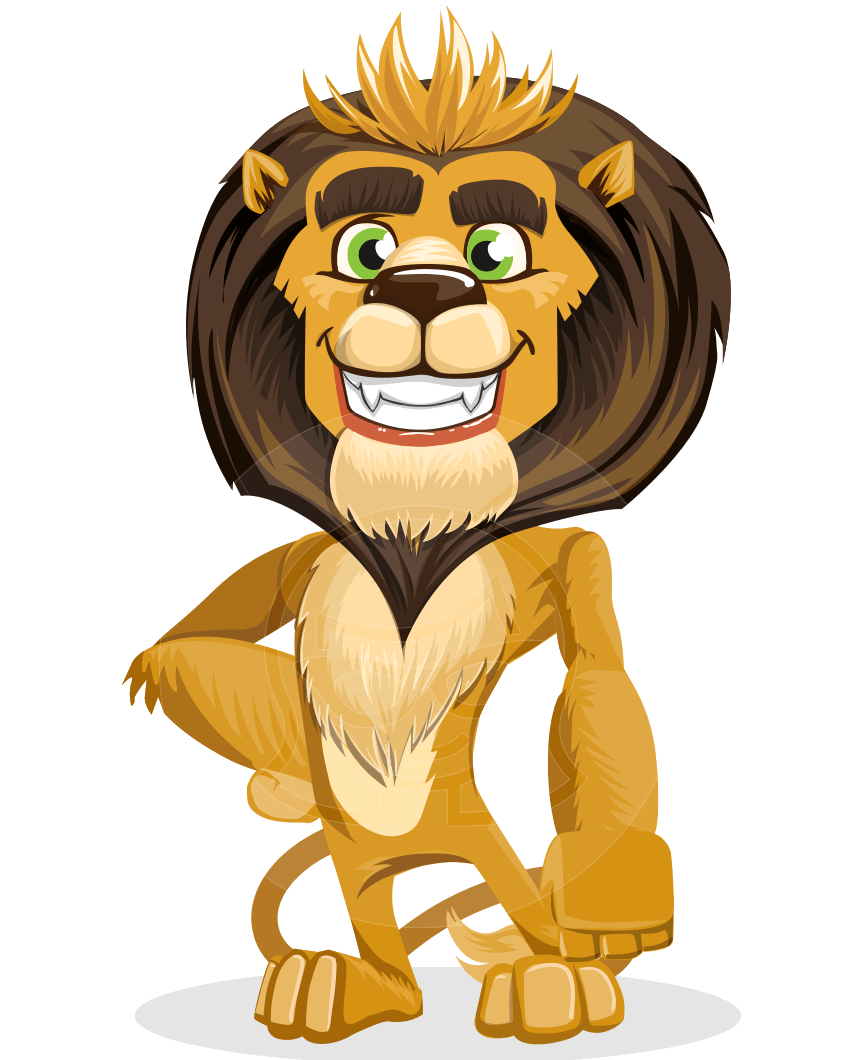animal lion vector cartoon character pack of poses