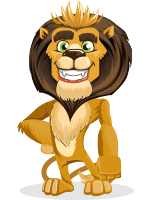 Lion Cartoon Vector Character AKA Leo Nardo