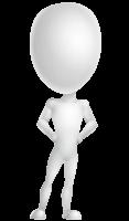 Vector 3D Man Model Cartoon Character AKA Maddox
