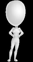 Vector 3D Woman Model Cartoon Character AKA Meisy