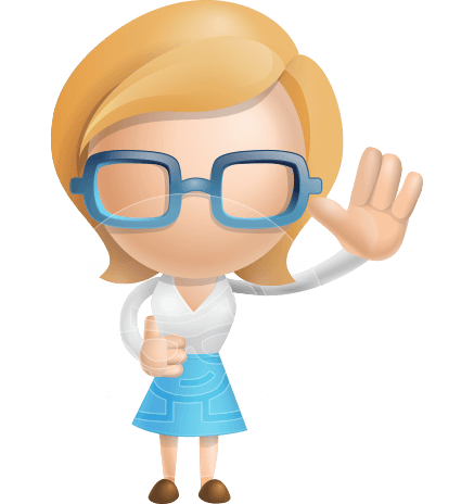 Simple Business Woman Vector 3D Cartoon Character AKA Nerdellina