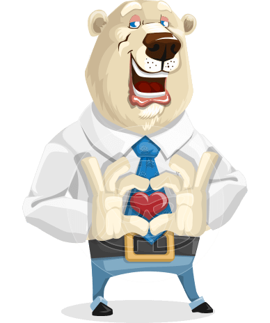 Polar Bear Cartoon Character