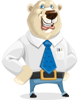 Polar Bear Cartoon Vector Character AKA Robert McBear