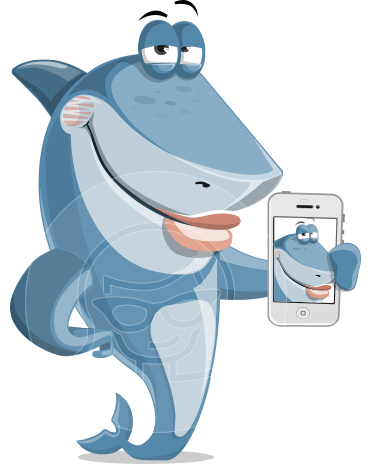 Shark Cartoon Vector Character AKA Sharko Polo