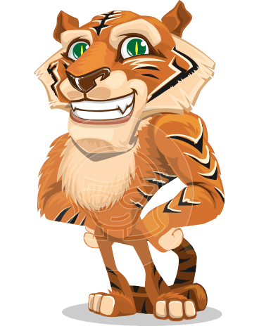 Cute Tiger Cartoon Vector Character AKA Tiger Bone