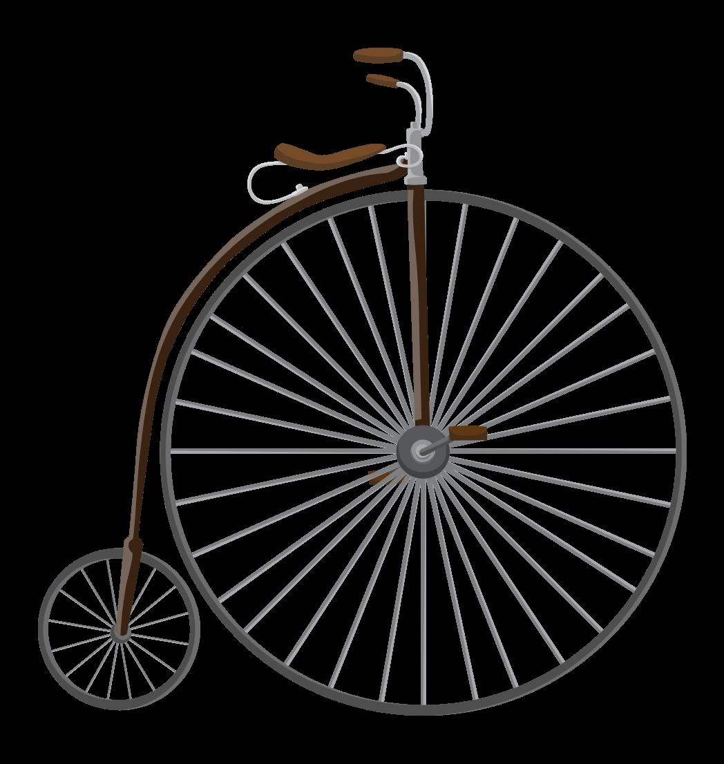 Retro Bicycles Set: A Vintage Ride