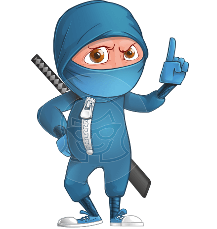 Ninja Boy Cartoon Vector Character AKA Hotaru