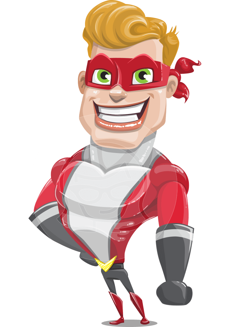 superhero vector cartoon character - Mister Magnetic