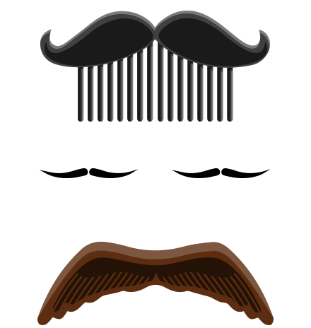 Moustaches Set: Twisted with Style