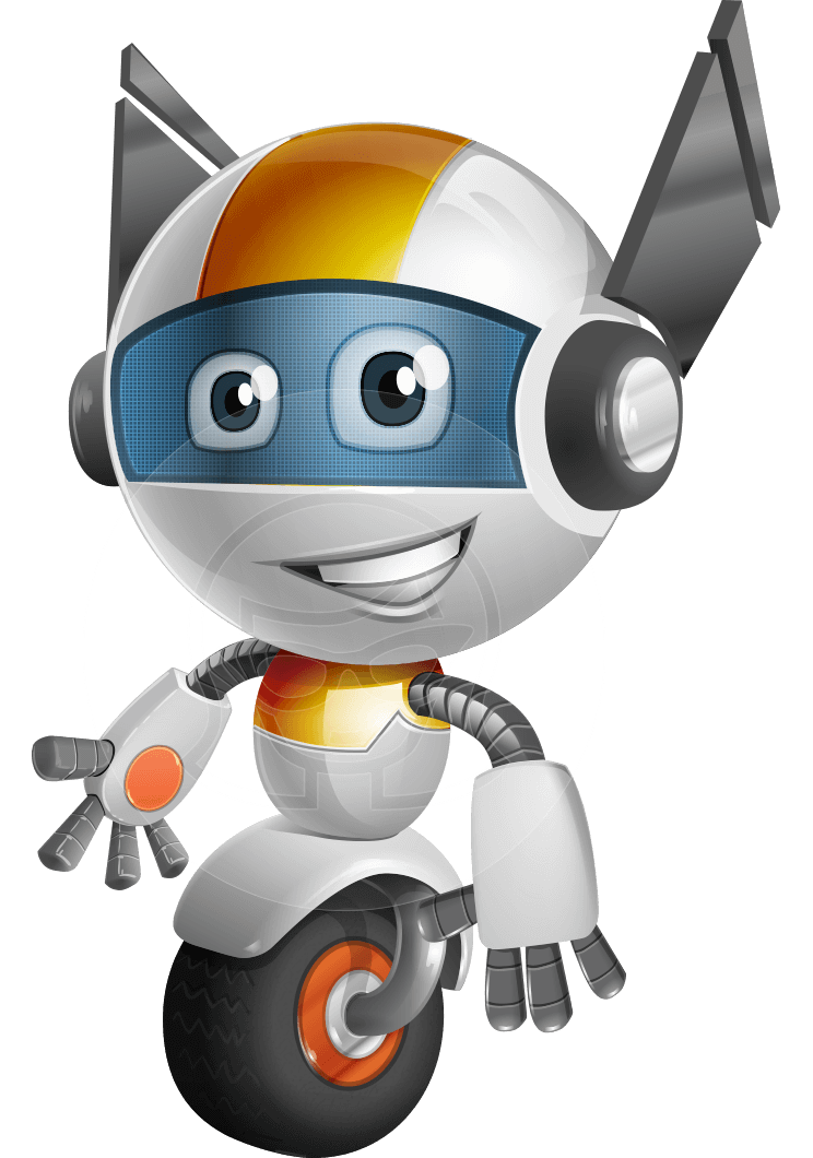 robot vector cartoon character design - OWAF