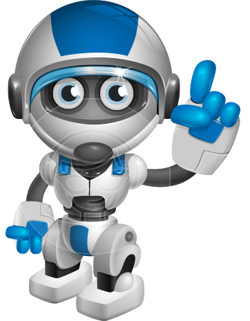 robot vector cartoon character design by GraphicMama