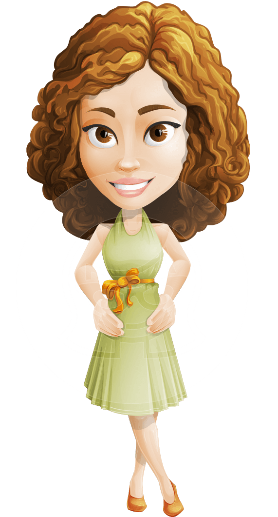 Vector Sweet Lady Cartoon Character