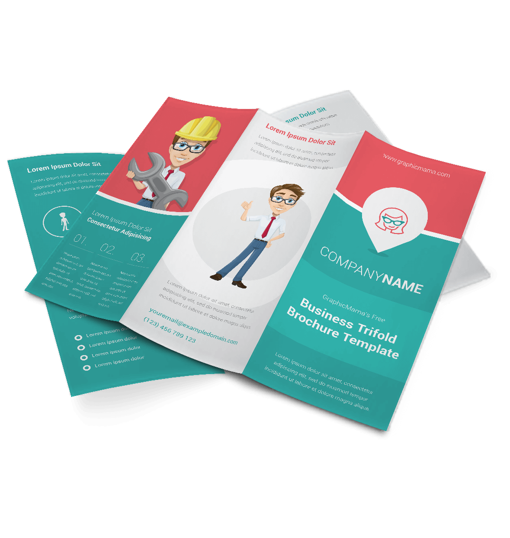 how to make a brochure template - vector brochure template triple my success graphicmama