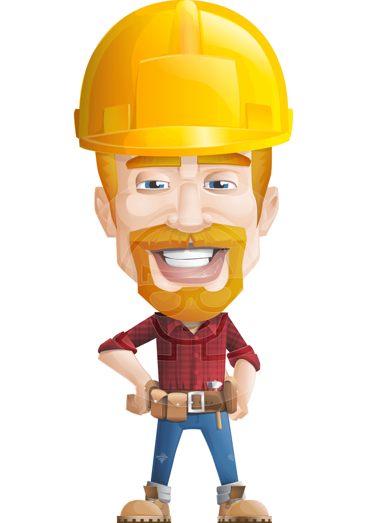 Vector Construction Worker Character - Workman Mitchell ...