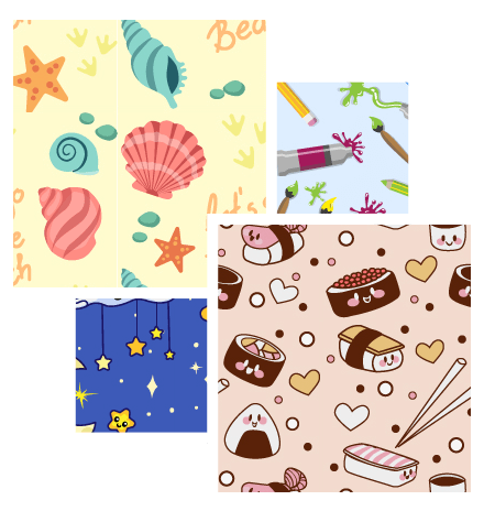 Colorful Patterns Set: Blast of Cuteness