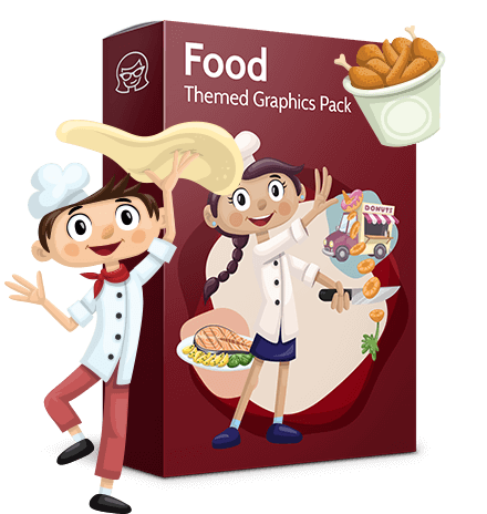 Food vector pack - menu, restaurant, meal, cook, chef, backgrounds, scenes, editable graphics, illustrations, png files for download available