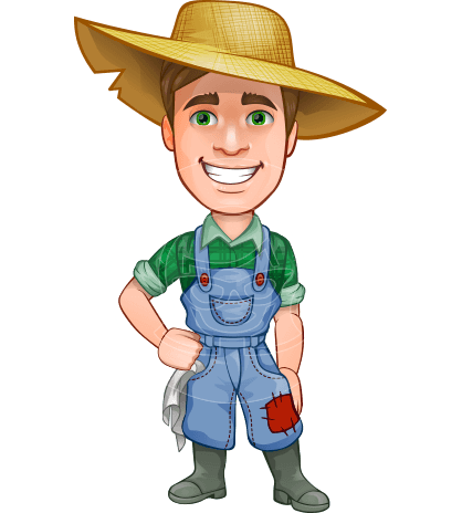 Connor as Mr. Handsome Farmer