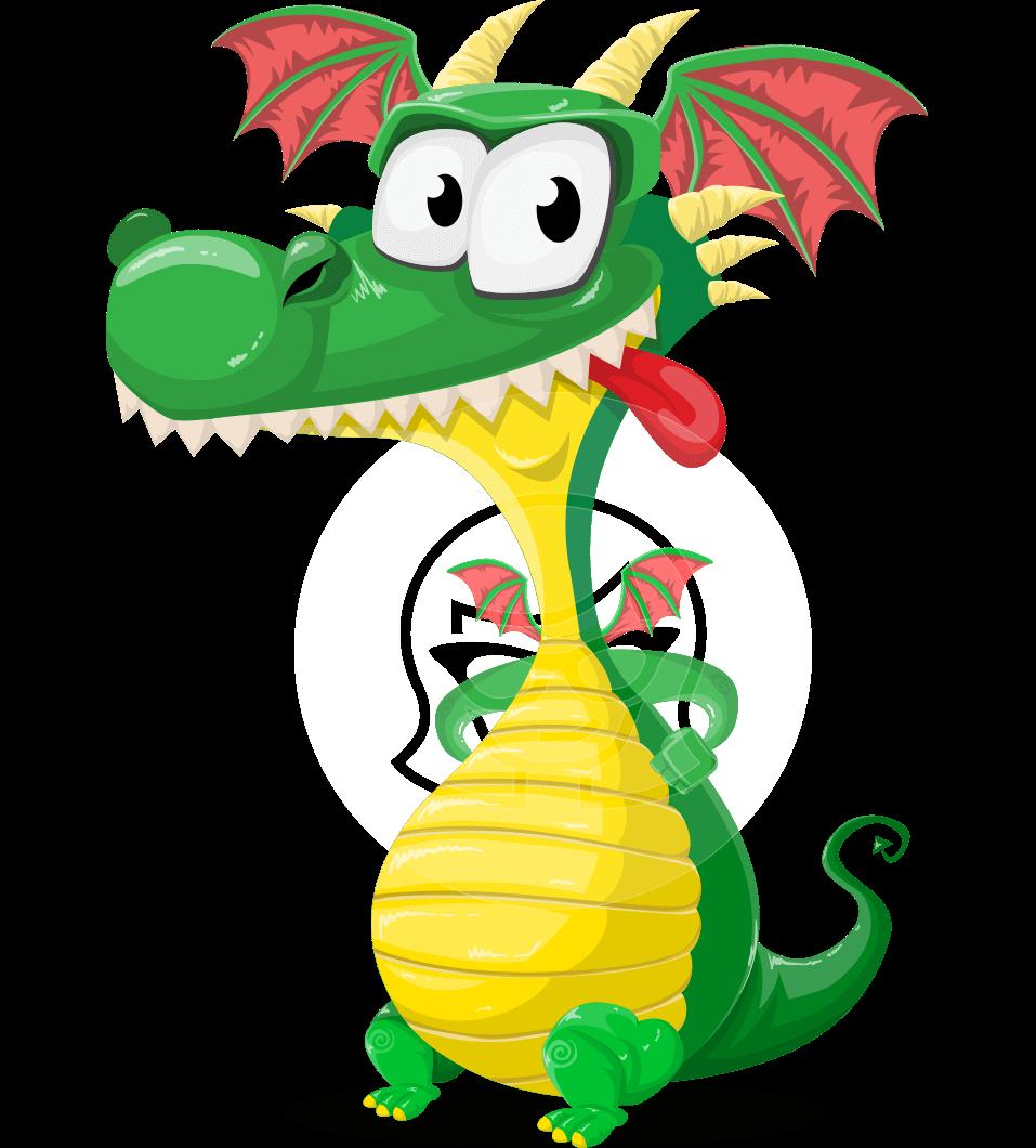 vector dragon cartoon character spiky as dragon cute mighty