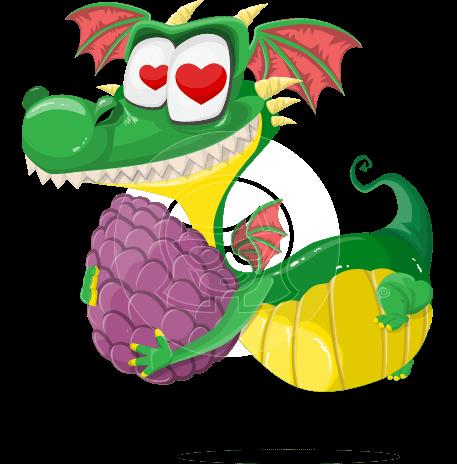 Cute Dragon Cartoon Vector Character AKA Spiky