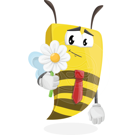 Bee Businessman Cartoon Vector Character AKA Lee the Business Bee