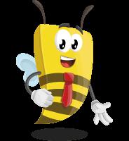 Bee Businessman Cartoon Vector Character AKA Lee the Business Bee