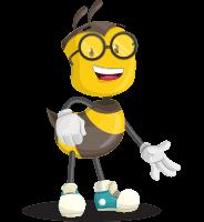 School Bee Cartoon Vector Character AKA Shelbee Sting