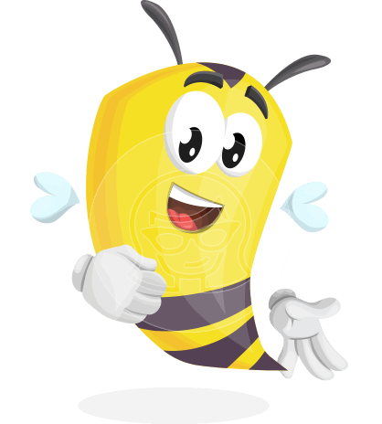 Bee Cartoon Vector Character AKA Mr. Bee Busy