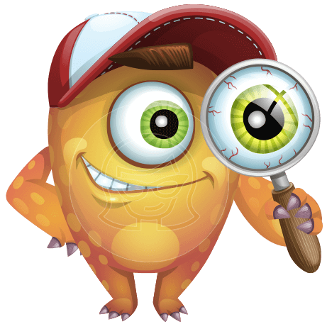 Cyclops Monster Cartoon Vector Character AKA One-eyed Oliver