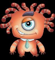 Octopus Monster Cartoon Vector Character AKA Mister Octo-monster
