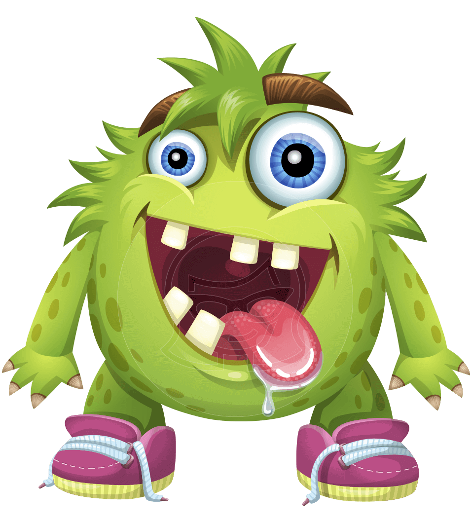 Funny Monster Cartoon Vector Character AKA Hal the Messy Pal
