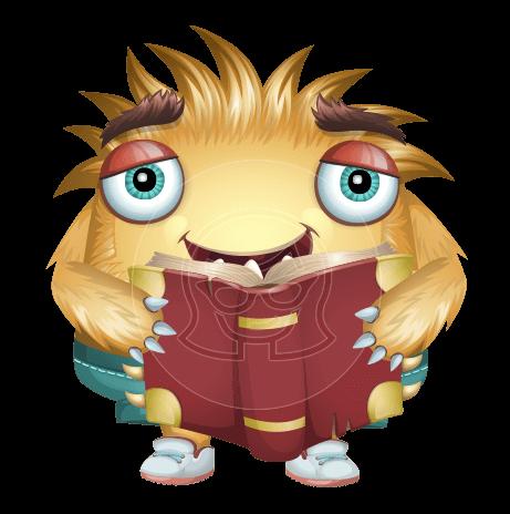 Friendly Monster Vector Cartoon Character AKA Mr. Kai Bow Tie