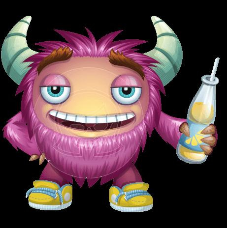 Furry Monster Cartoon Vector Character AKA Monster MacFurry