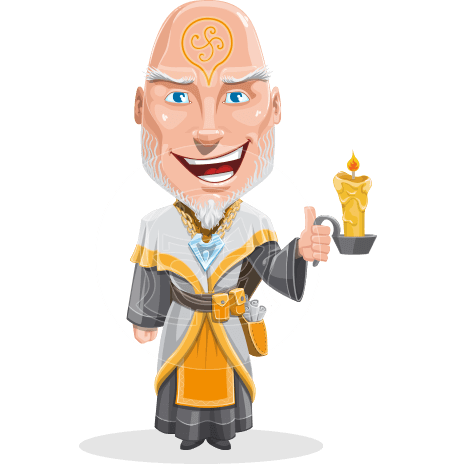 Wizard with Robe Cartoon Vector Character AKA Griffith