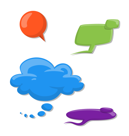 Speech Bubbles Set: Let's Chat!