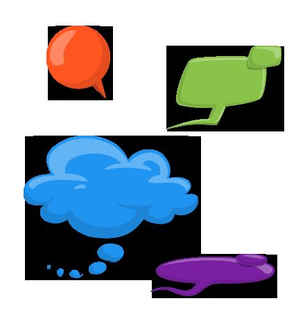 Speech Bubbles Set: Let's Chat!