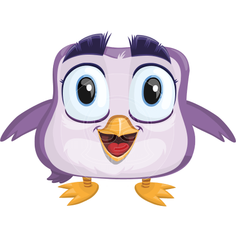 Little Bird Cartoon Vector Character AKA Chirpy SongBird