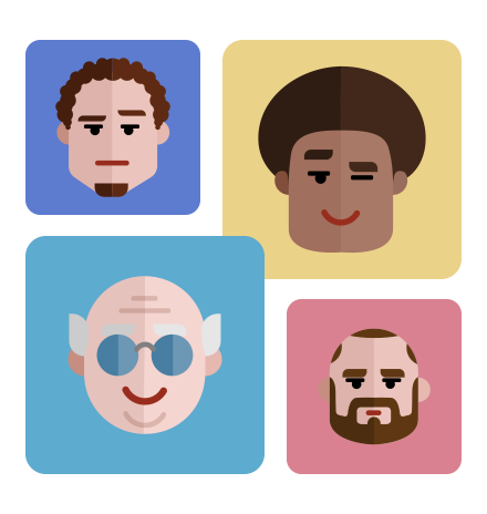 Flat Avatars Set: Males