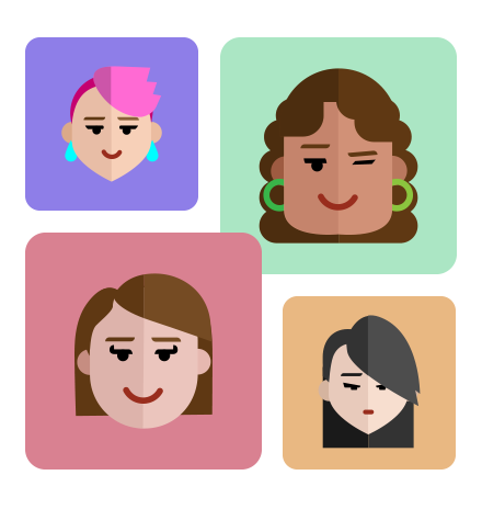 Flat Avatars Set: Females
