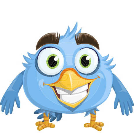 Fluffy Bird Cartoon Vector Character AKA RoBird Plumage