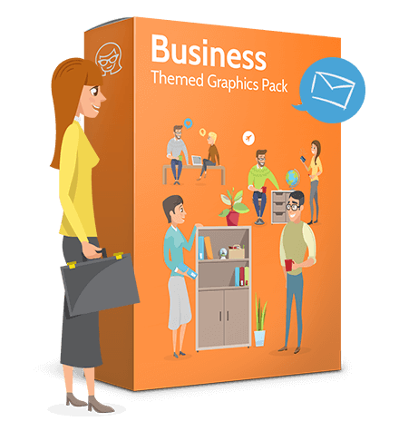 Collection of Business Vector graphics in flat design