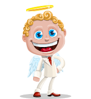 Business Angel Cartoon Vector Character AKA Angello