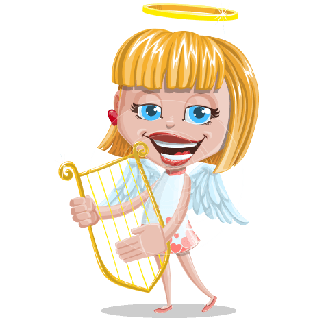 Angel Kid Vector Cartoon Character AKA Stella the Shining Angel