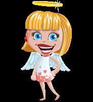 Angel Kid Vector Cartoon Character AKA Stella the Shining Angel