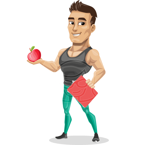 Muscle Gym Instructor Cartoon Vector Character AKA Jim Hit the Gym