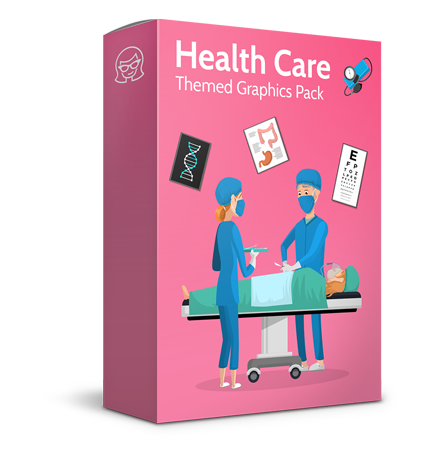 Good Health - Doctors, Medical pack of vector graphics - editable characters, items, icons, illustrations, backgrounds
