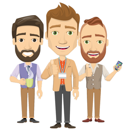 Vector graphic creation kit - all kinds of office men, with different duties, personalities, clothes, hair, accessories