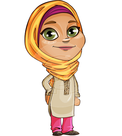 Nasira the Caring Arabic Girl