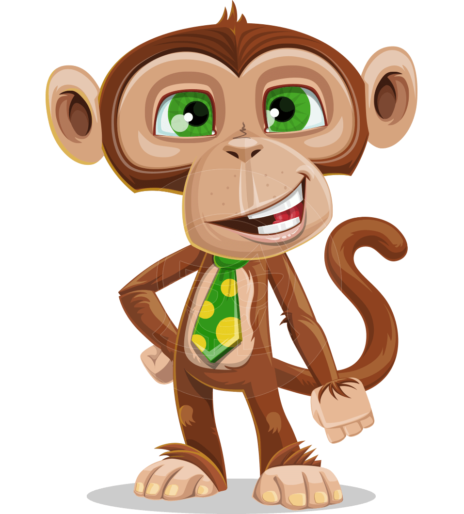 Ape Businessman Cartoon Vector Character AKA Bizzo